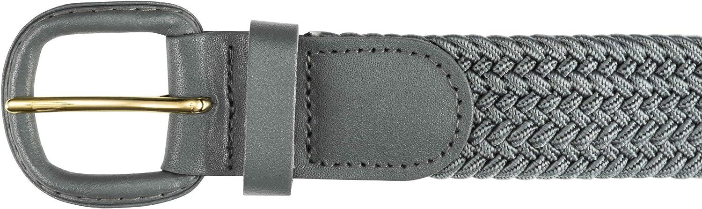 Streeze Cintur/ón Unisex de correa Trenzada 6 Tama/ños El/ástico Entretejido con Hebilla de Cuero Peque/ño a 3XL