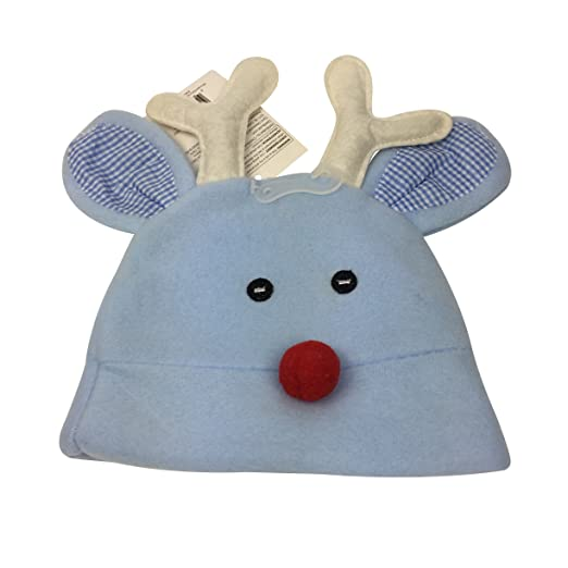 Amazon.com  Christmas Baby Hat  Light Blue Baby Boy Reindeer ... ec127b9f251