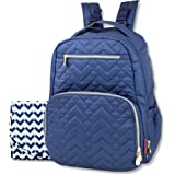 Fisher-Price Classic Quilted Backpack Navy