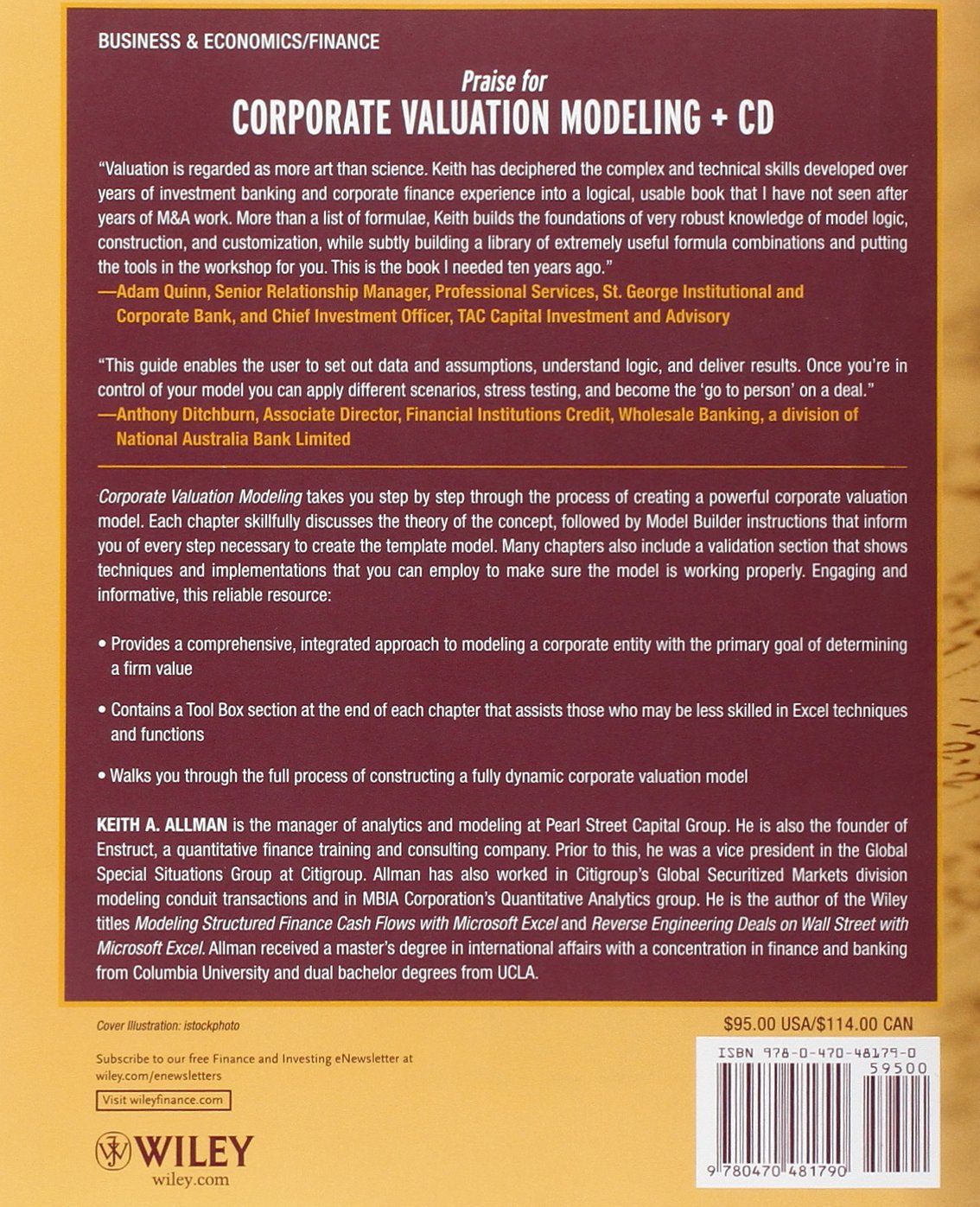 Amazon: Corporate Valuation Modeling: A Stepbystep Guide  (9780470481790): Keith A Allman: Books