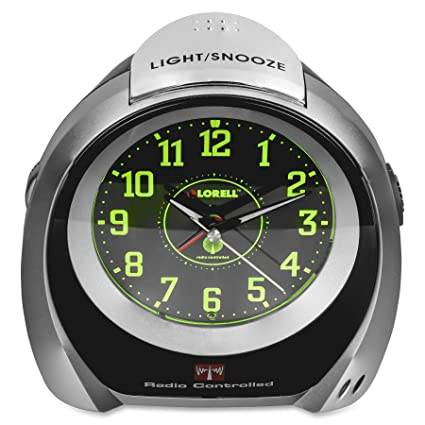 Amazon.com: Lorell Atomic Desk Clock, 5-1/2 by 2-3/4 by 5-3/4-Inch, Silver/Black: Home & Kitchen