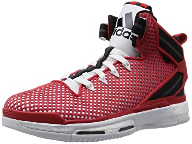 outlet store dc0b7 5b4e4 adidas Derrick Rose 6 Boost, Men s Basketball Shoes, Red   White   Black (