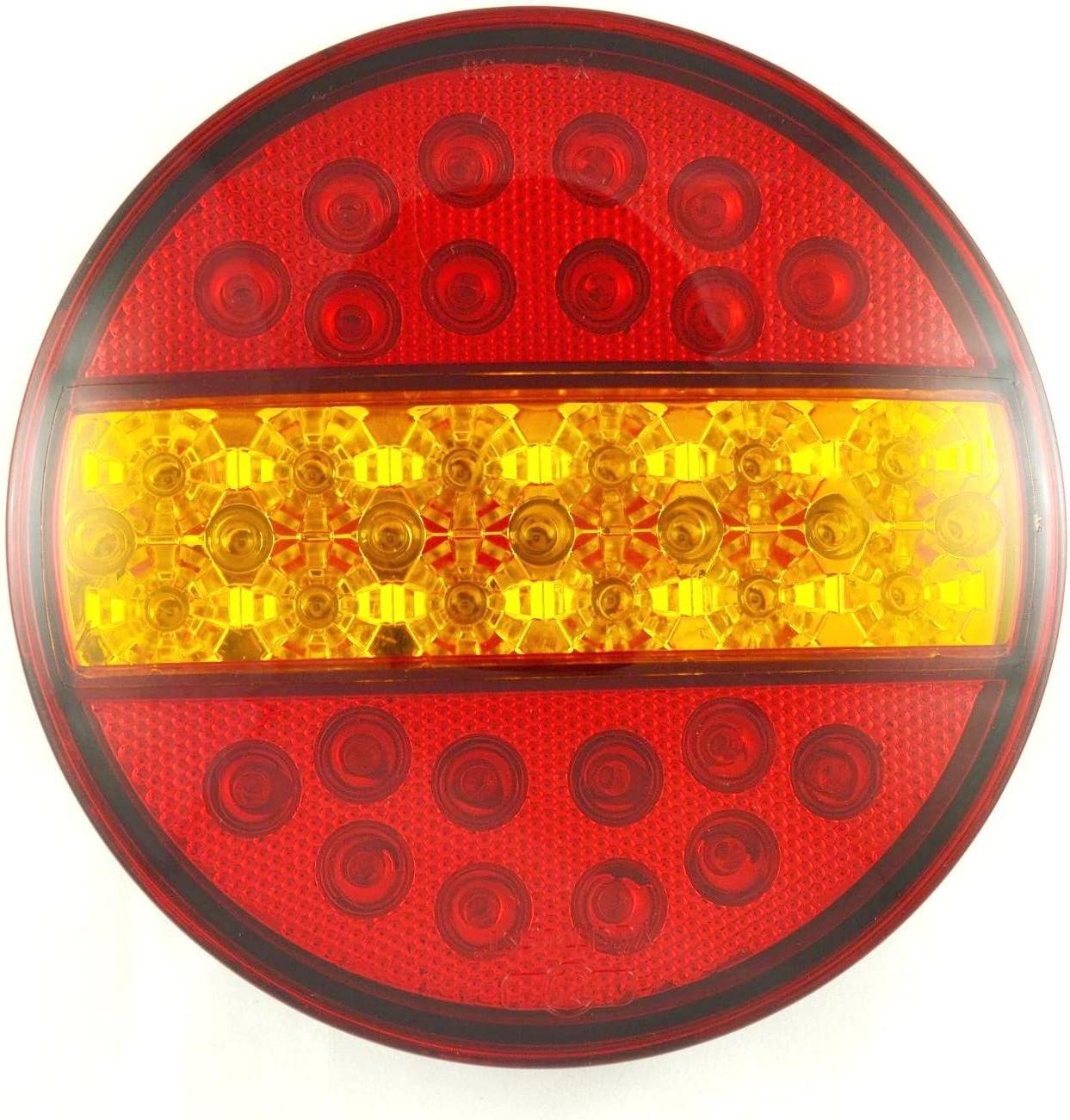 4x LED Hamburger Stop Tail Lights 24V Truck Trailer Chassis Caravan Tipper universal