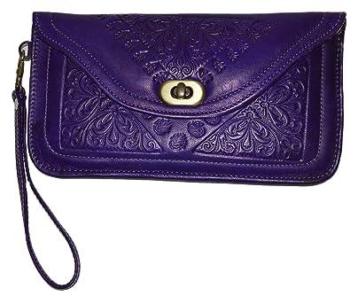 Amazon.com: Marroquí y bolsos hecha a mano tallada Piel Tipo ...