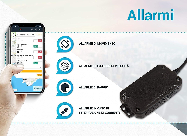 miniatura 3 - Salind GPS 01- Localizzatore GPS per auto, moto e veicoli con scheda SIM, app