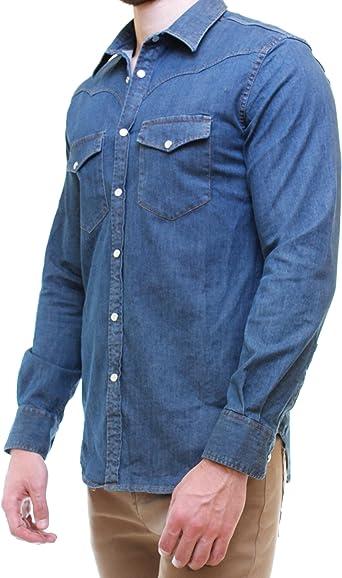 OranJeans 0C384 Camisa Tejana Corte Slim fit Manga Larga ...