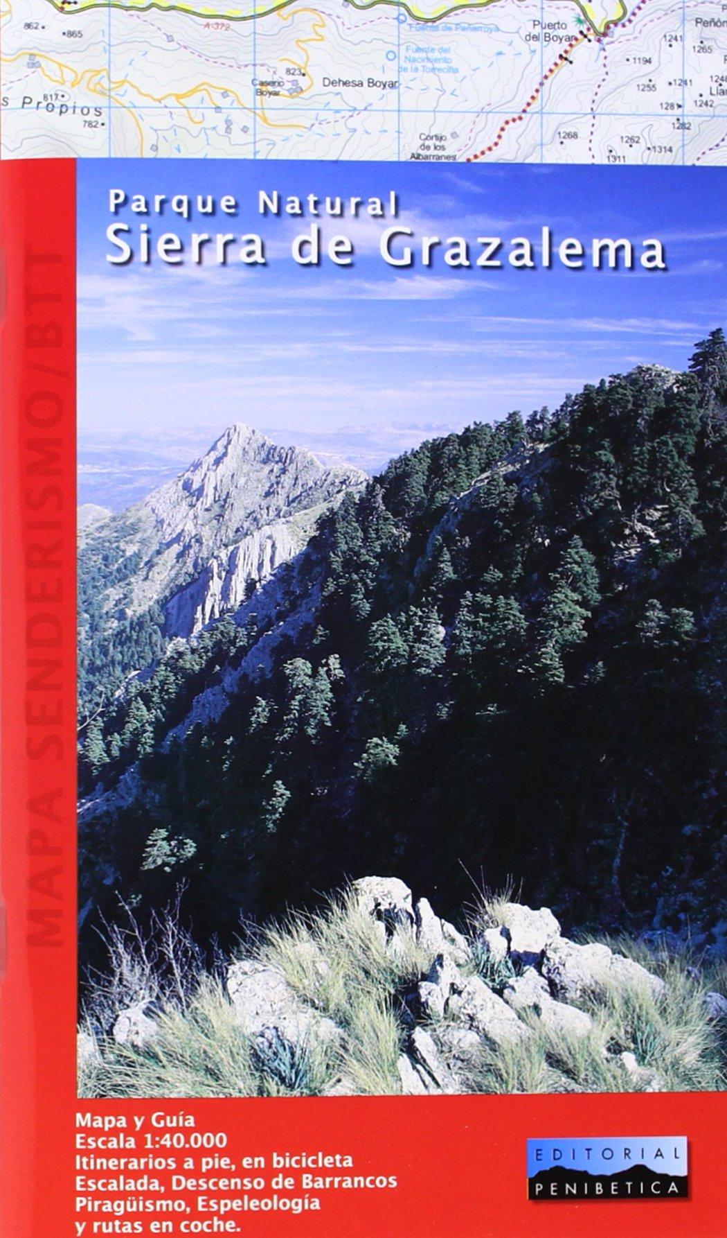Mapa Parque Natural Sierra de Grazalema. Escala 1:40.000 ...
