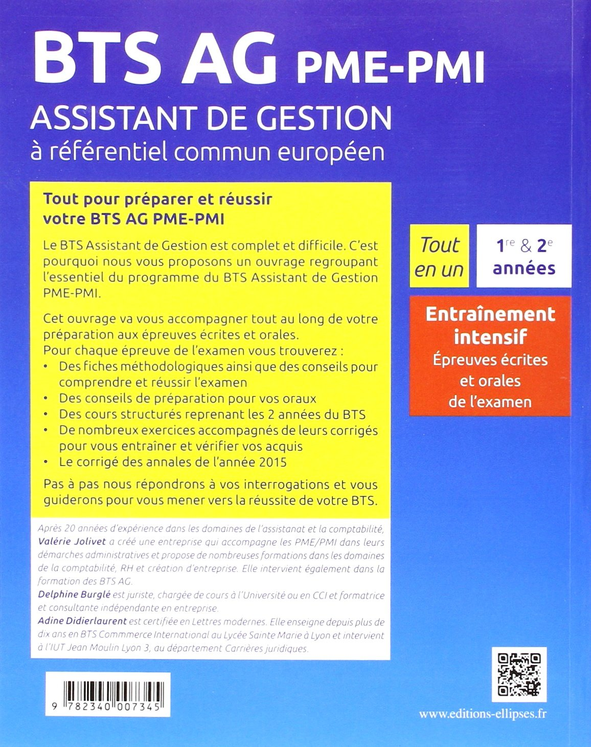 Tout en un Bts Ag Pme-Pmi Assistant de Gestion a Referentiel Commun Europeen: 9782340007345: Amazon.com: Books