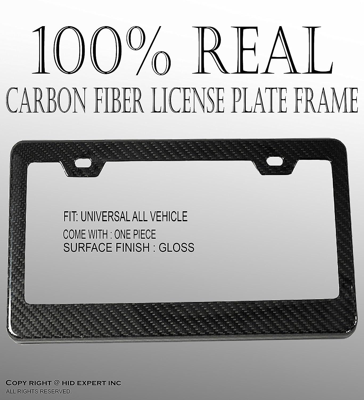 REAL 100/% CARBON FIBER LICENSE PLATE FRAME TAG COVER ORIGINAL 3K TWILL JDM //FF