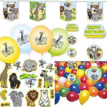98 piezas. Set de decoración * zoo y animales * para ...