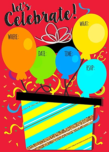 amazon com balloon colorful birthday party large fill in