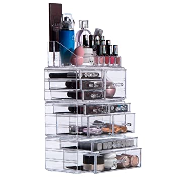 Amazon.com: pengke organizador de maquillaje gran capacidad ...