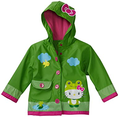 b656b39dc Amazon.com: Western Chief Little Girls' Hello Kitty Froggy Rain Coat ...