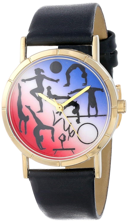 Whimsical Watches P-0840024 - Reloj analógico de cuarzo unisex, correa de cuero