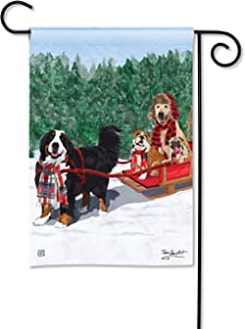 BreezeArt Studio M Mountain Dogs Fall/Winter Decorative Garden Flag – Premium Quality, 12.5 x 18 Inches