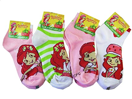 Strawberry Shortcake 3pc Girls Ankle Socks (Shoe Size 10.5 - 4) - Strawberry Shortcake