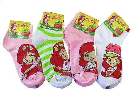 Strawberry Shortcake 3pc Girls Ankle Socks (Shoe Size 10.5 - 4) - Strawberry Shortcake