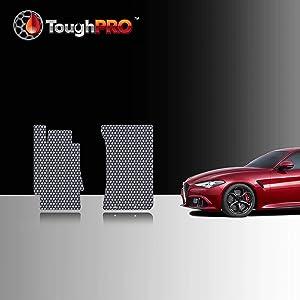 TOUGHPRO Front Mat Accessories Set Compatible with Alfa Romeo Giulia Quadrifoglio - All Weather - Heavy Duty - Custom Fit - (Made in USA) - Gray Rubber - 2017, 2018, 2019, 2020