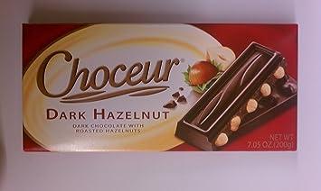 Amazon.com : Choceur Dark Chocolate with Roasted Hazelnuts 7.05 oz ...