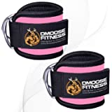 DMoose Ankle Straps for Cable Machines for Kickbacks, Glute Workouts, Leg Extensions, Curls, and Hip Abductors for Men…
