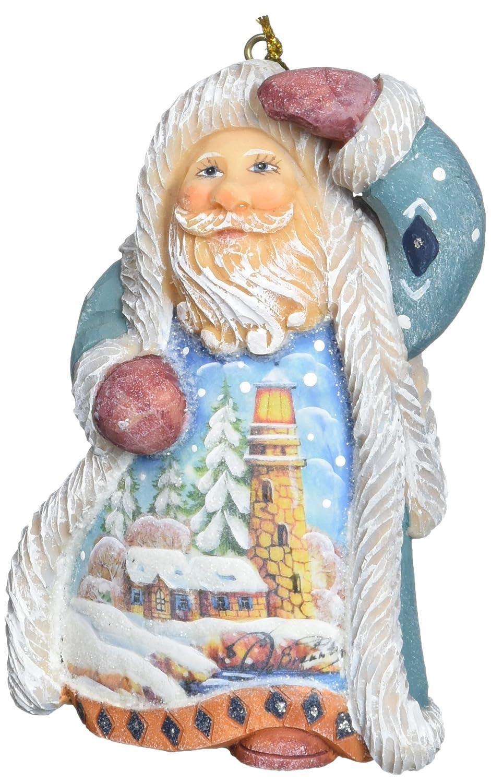 G 5 5 661511 Debrekht Santa Lighthouse Ornament