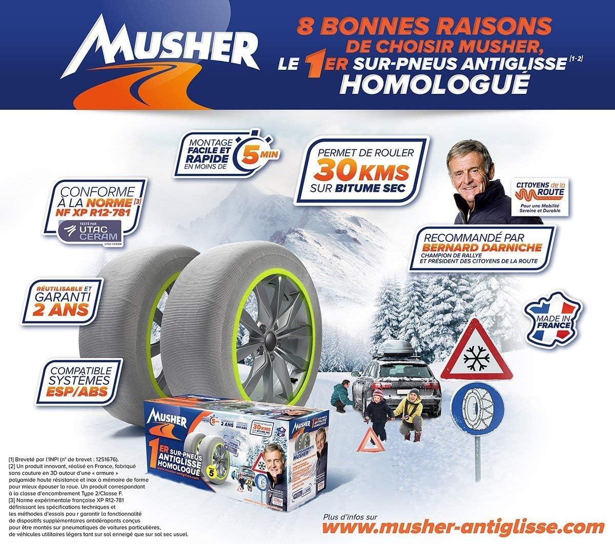 B26 Musher Chaussette Anti-Glisse n/°08 pour 235//55-17
