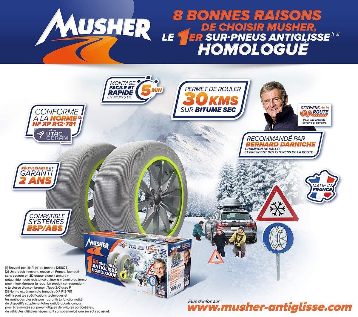 MUSHER Chaussette Anti-Glisse n/°04 205//45-17 B26