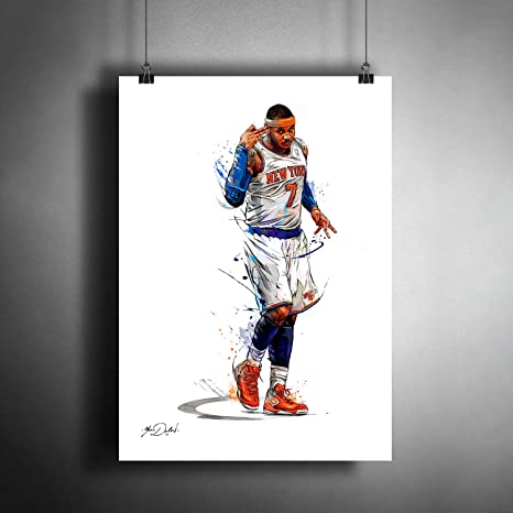 Poster Carmelo Anthony Melo Basketball Star Room Club Art Wall Print 501