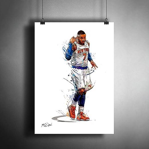 Allen Iverson Carmelo Anthony 8 x 10 2007 Group Shot Photo Print