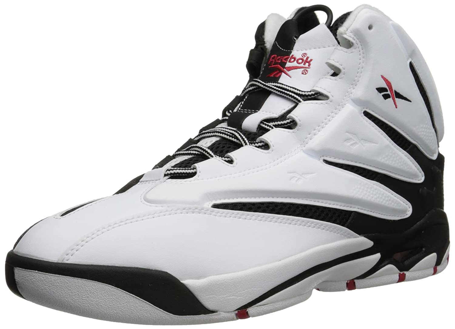 Reebok Men's BLAST Classic Black & White Retro Basketball Shoes Sneakers