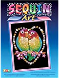 Ksg Arts and Crafts Sequin Art 1002 Love Birds Picture Kit Containing 275mm x 370mm Polystyrene Framed Pre Printed Picture