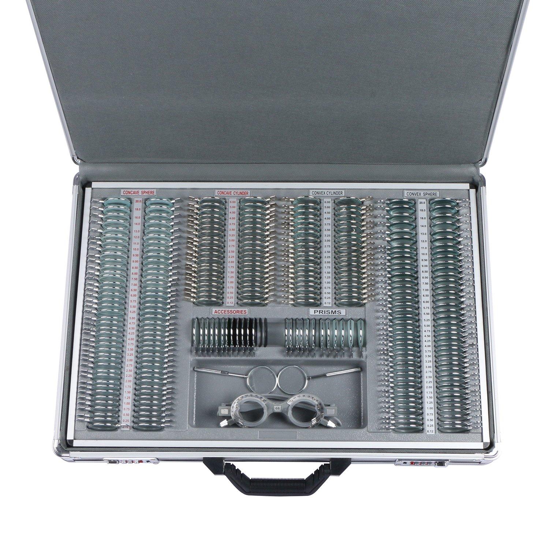 UCanSee 266 pcs Optical Trial Lens Set Kit Metal Rim Aluminum Case