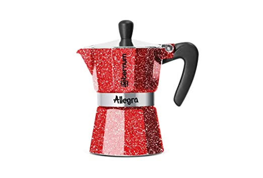 Aeternum Allegra 0,18 L Negro, Rojo - Cafeteras Italianas (0,18 L ...