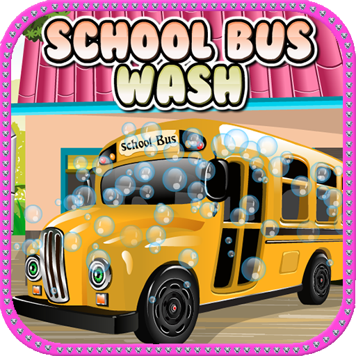 School Bus Car Wash Games -