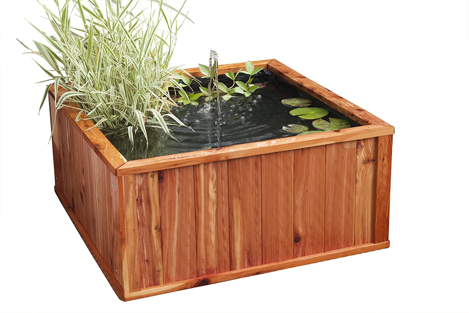 Blagdon 80cm Complete Patio Hand Crafted Cedar Liberty Water Feature Pool with Remote Control and Wireless Interpet