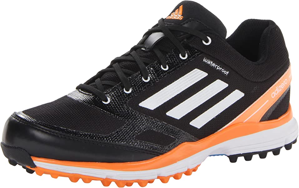 the best attitude 8ab26 9098f adidas Men s Adizero Sport II Golf Shoe,Black White Solar Blue,9. Back.  Double-tap to zoom