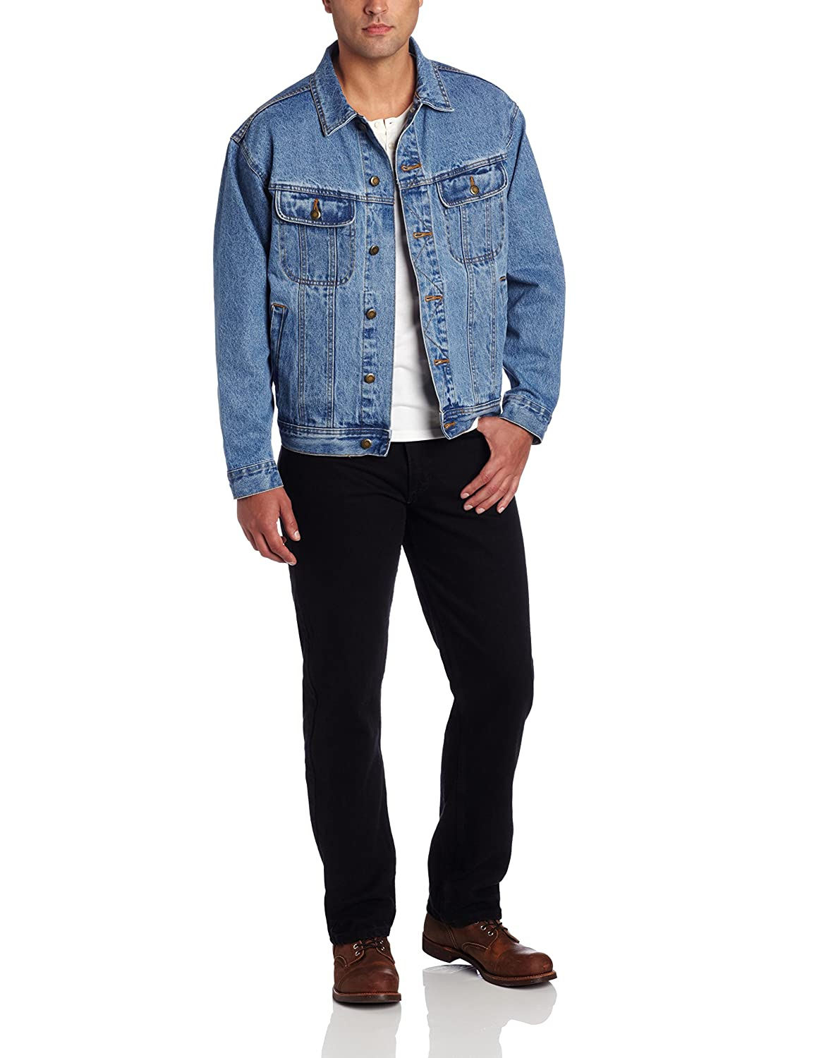 Wrangler Men's Rugged Wear Unlined Denim Jacket at Amazon Men's ...