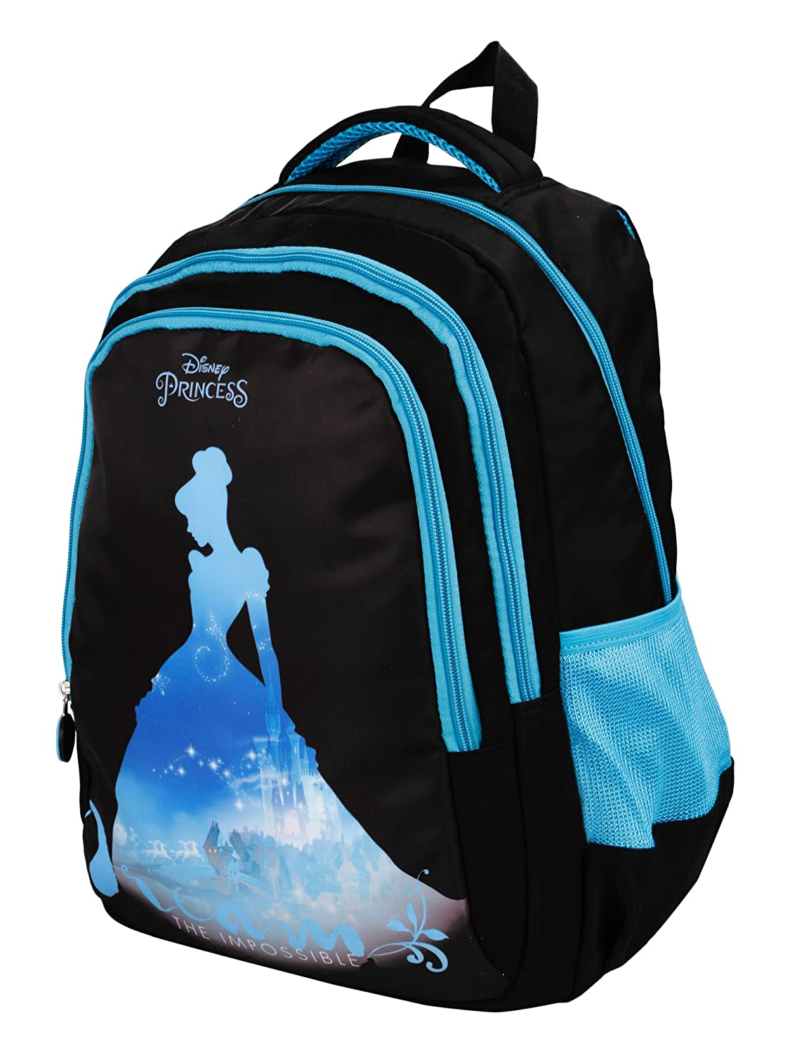 Disney Princess Blue Children s Backpack (BTS-4061)  Amazon.in  Bags ...