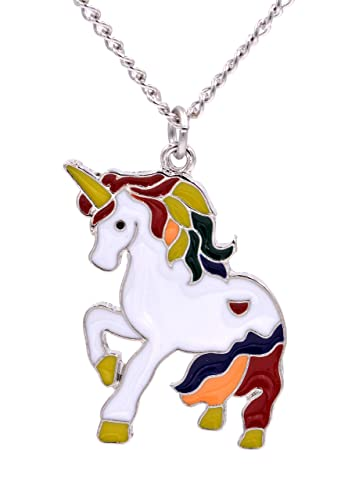 Magical Unicorn Design Cute Quirky Necklace Suitable For Adults or Children (in an Organza Gift Pouch ) Fashion Jewellery kTqEOK5