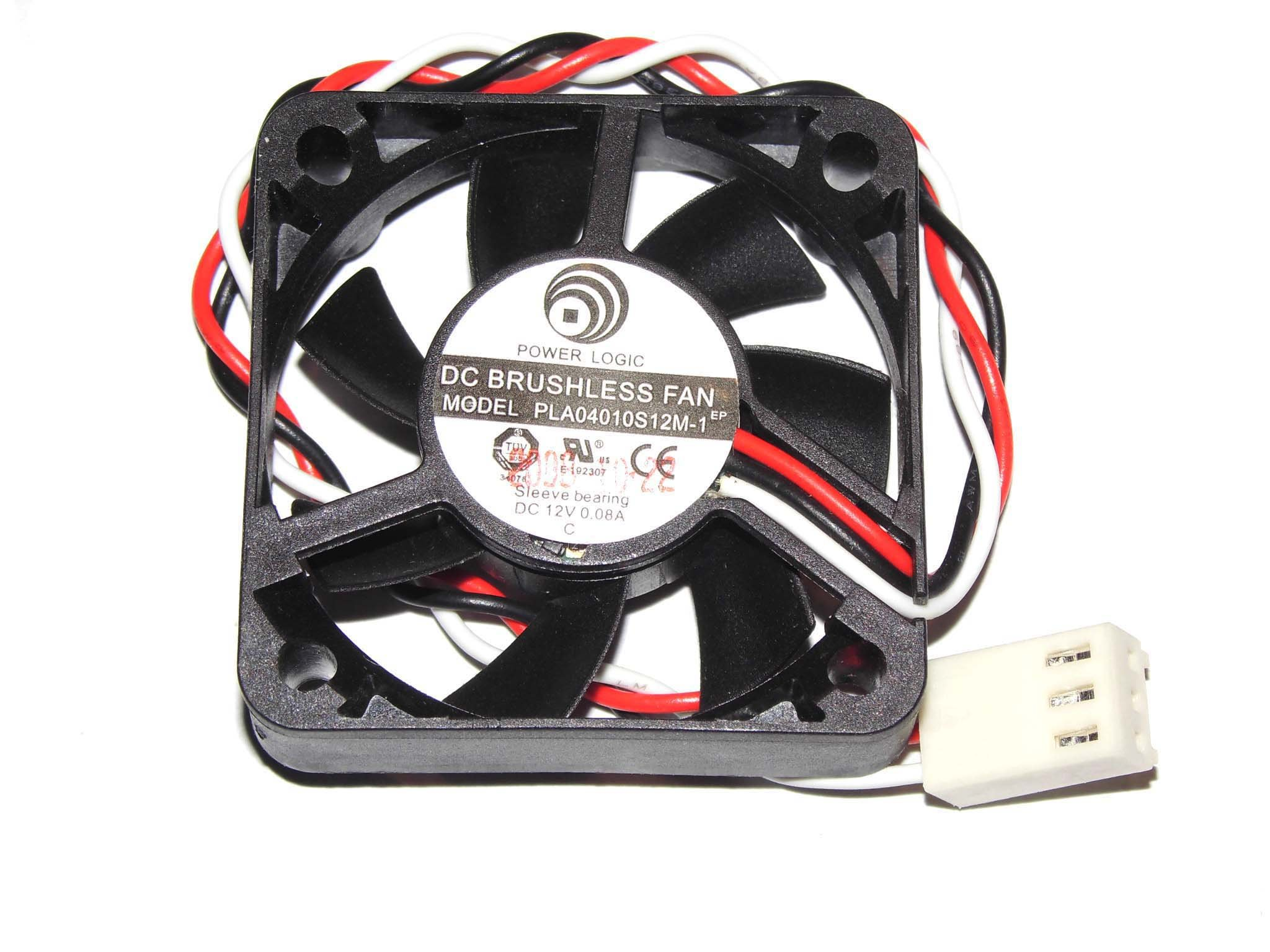 PLA04010S12M-1 12V 0.08A 3Wire Cooling Fan