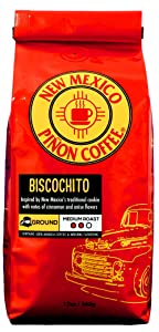 New Mexico Piñon Coffee Naturally Flavored Coffee (Biscochito Ground, 12 ounce)
