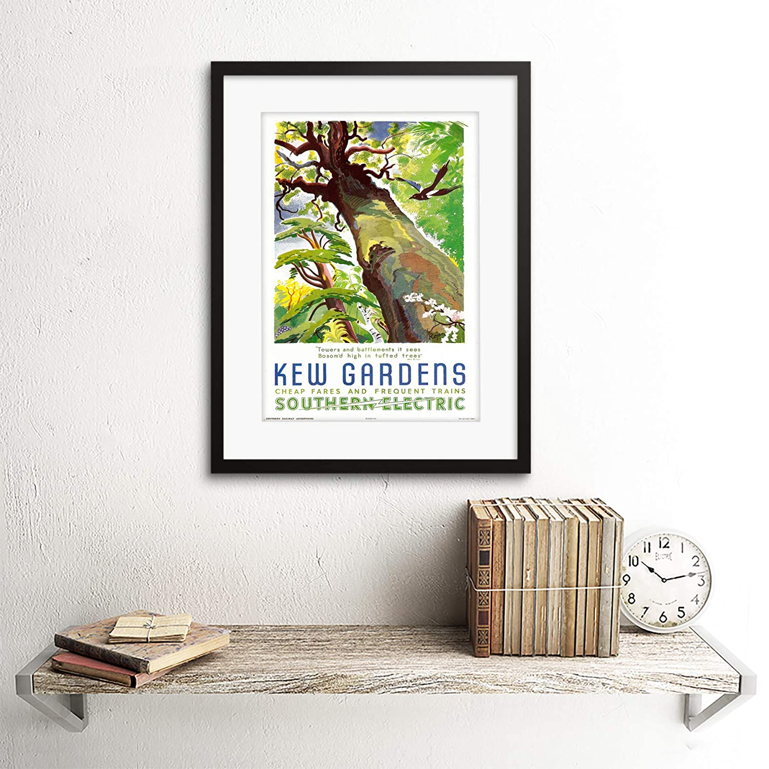 Wee Blue Coo Vintage Travel Kew Gardens Southern Electric Tree Bird ...