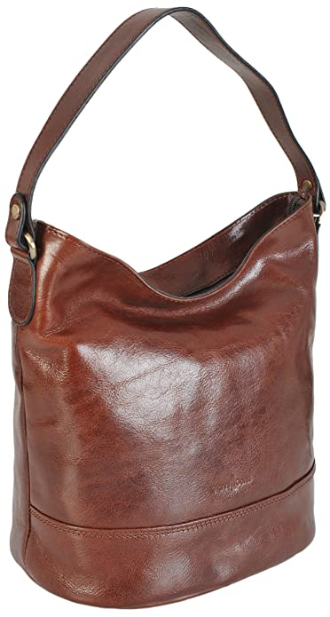 0d4c75bb49 Gianni Conti Fine Italian Leather Bucket Shoulder Bag - 9406746 (Brown)