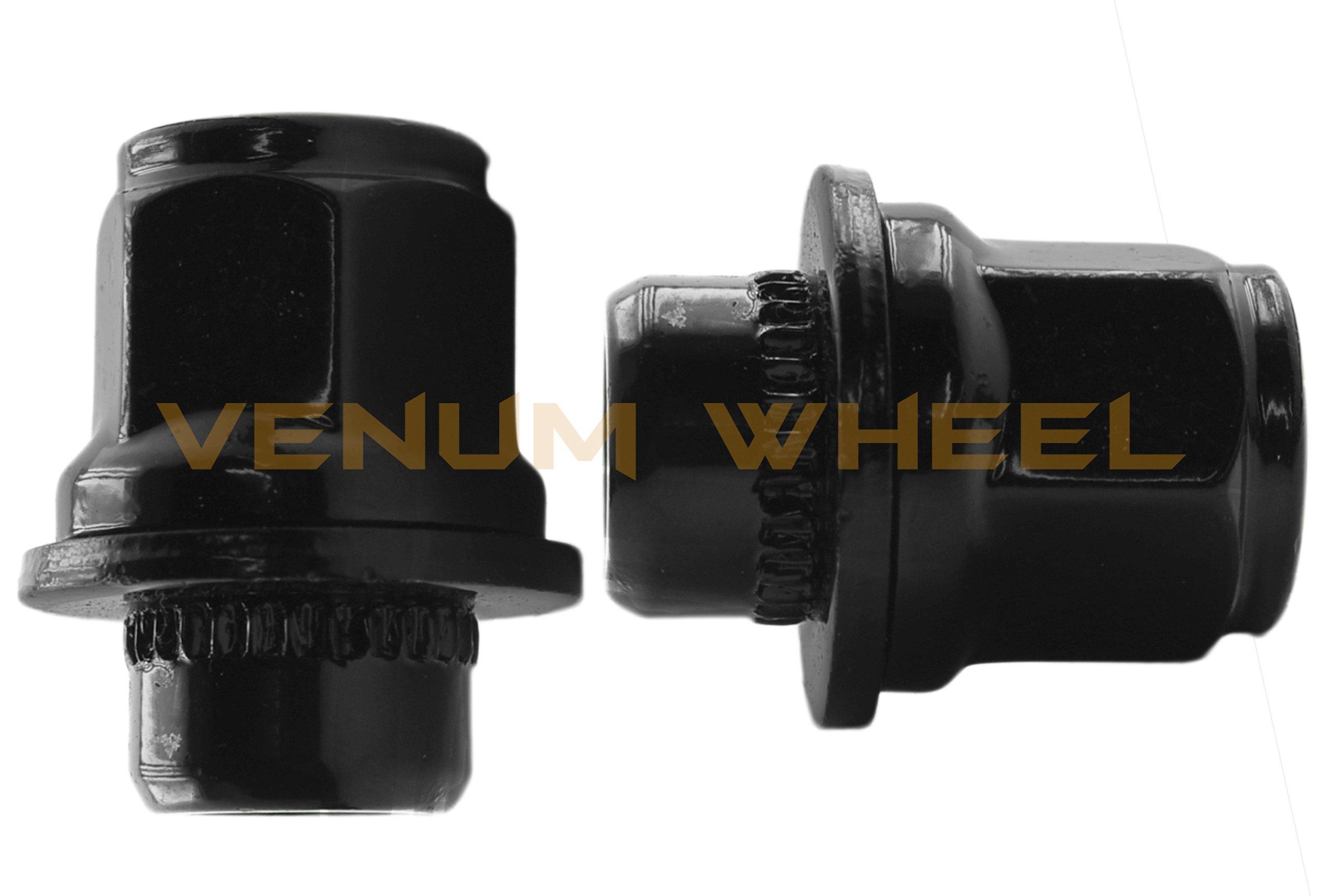 24 Pc Black Toyota Tacoma Tundra Fj Cruiser Oem Mag Seat Lug Nuts 12x1.5 1.45'' Tall 6 Lug by Venum wheel accessories (Image #3)