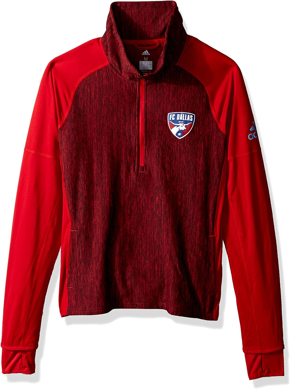 adidas MLS womens Logo Driven 2.5 Heathered Quarter Zip