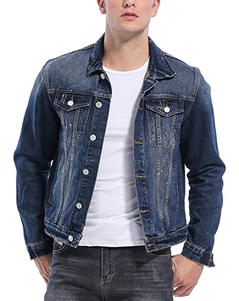 Amazon.com: KOGO Denim - Chaqueta para hombre: Clothing