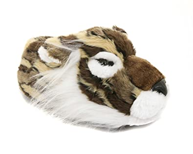 Mens Novelty Funny Wolf Animal Slippers Size 6 To 12 Uk / Xmas Christmas Gift NQ_4902