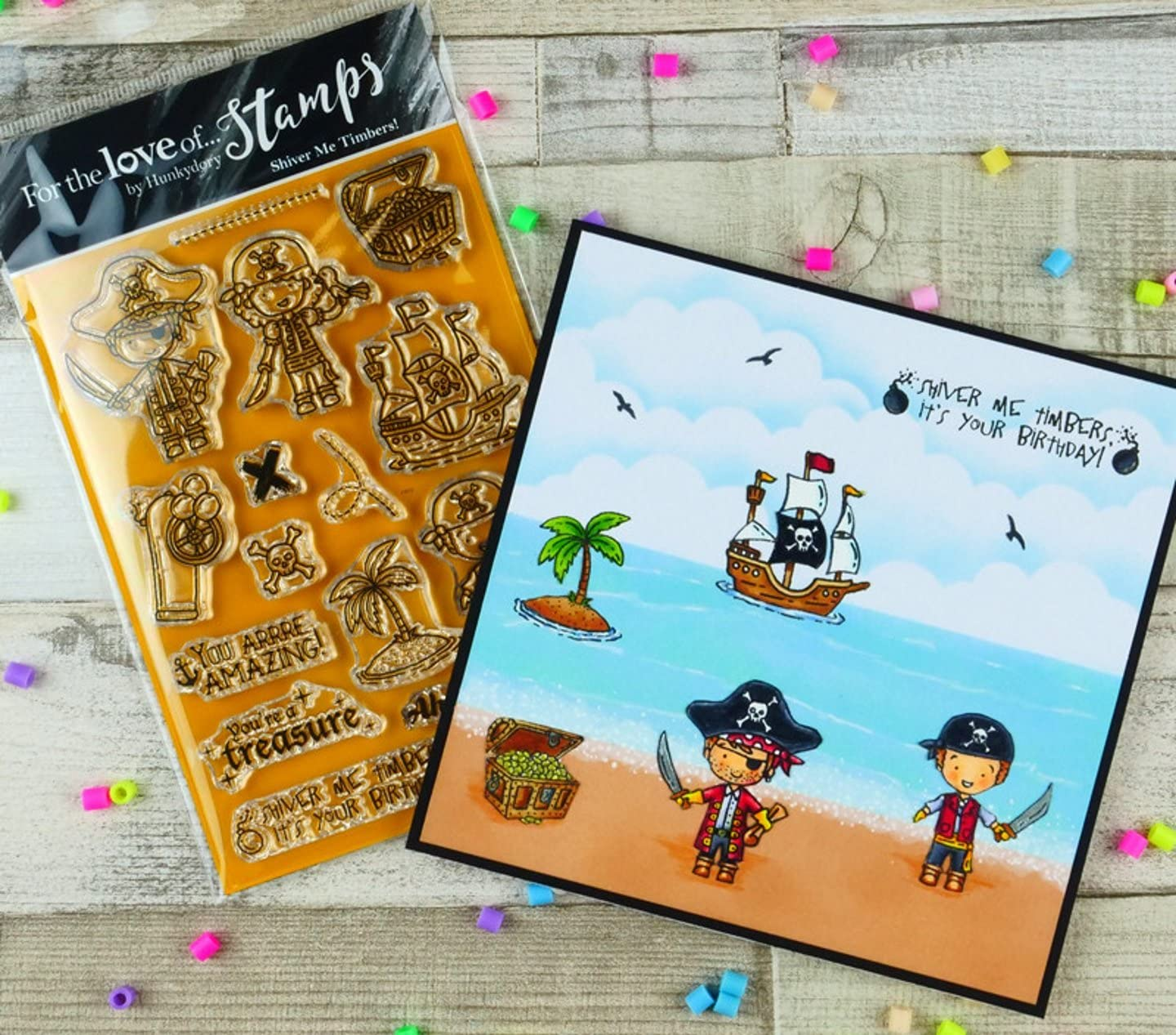FTLS309 HunkyDory Crafts for The Love of Stamps Shiver Me Timbers