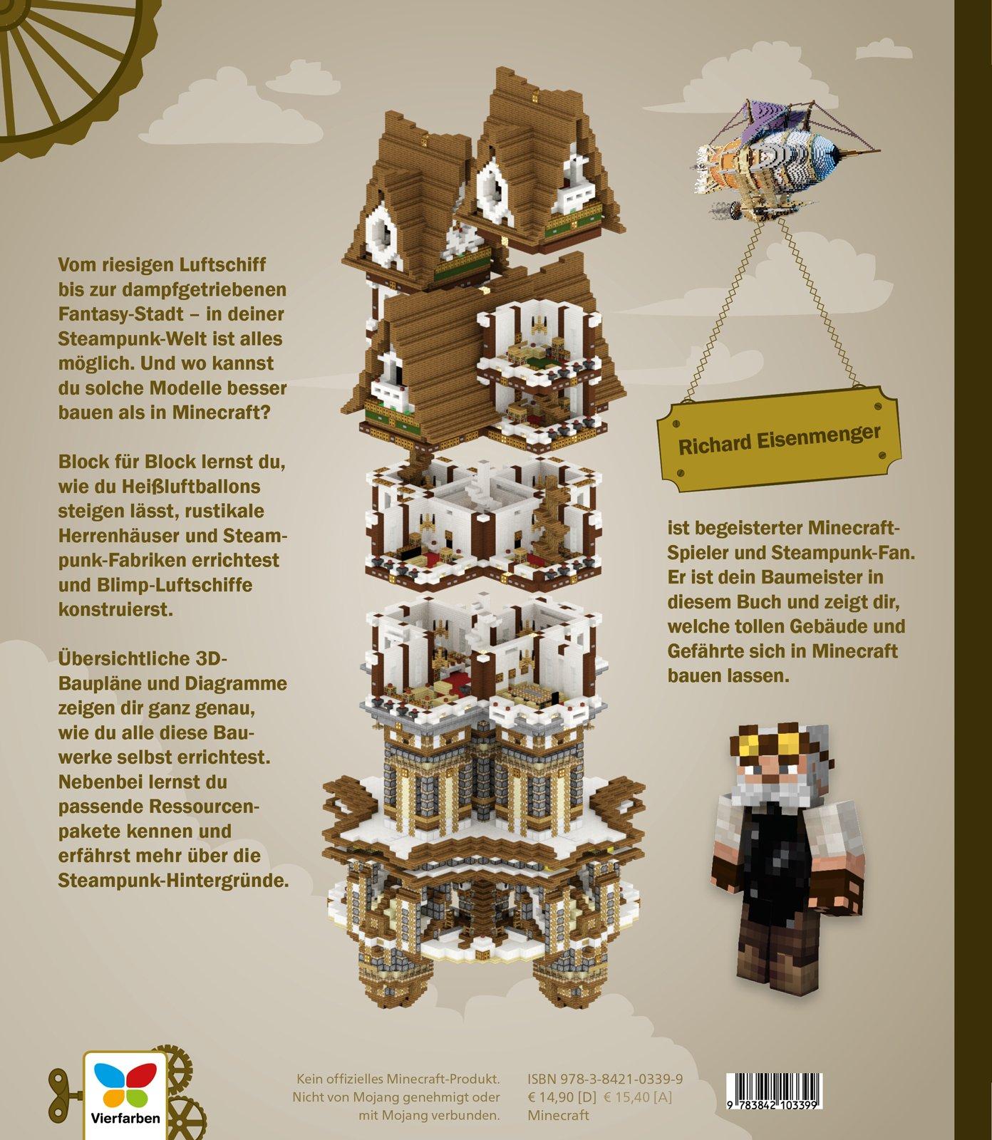 Steampunk Baue Deine MinecraftWelt Mit DBauplänen Tipps Und - Minecraft luxus hauser zum nachbauen