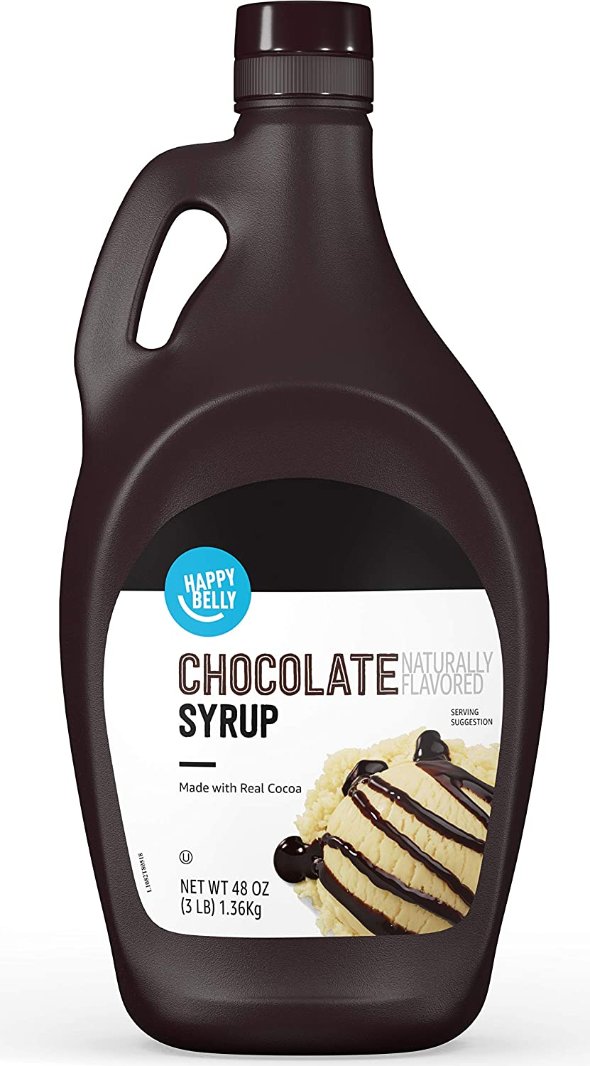 Amazon Brand - Happy Belly Chocolate Syrup, 48 oz (Previously Solimo)